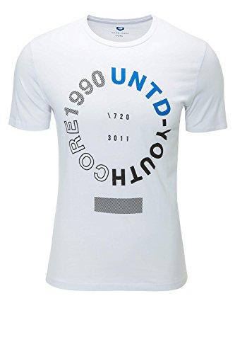 Jack & Jones Herren T-Shirt Print Kurzarmshirt White Text Circle