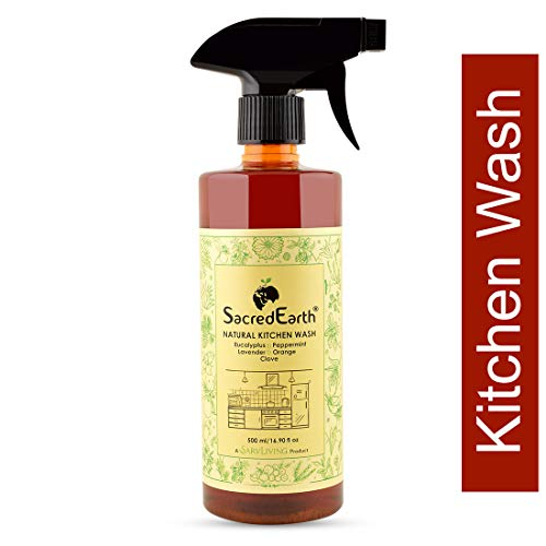 SacredEarth Natural Kitchen Cleaner - With Orange, Lemon, Clove,Eucalyptus And Peppermint - 500ml