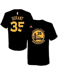 Kevin Durant Golden State Warriors # 35 NBA niños nombre y número Jersey camiseta, Kids Small 4, Negro