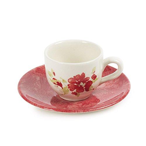 Table Passion - Tasse à café 9 cl avec soucoupe bagatelle (lot de 6)
