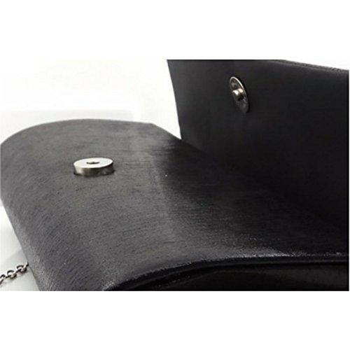 Frauen-Abendbeutel Art Und Weise Diamant-Braut Umhängetasche Bankett-Paket Black