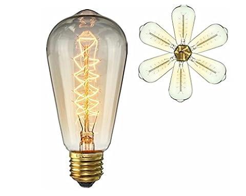 Vintage-Edison-Glühlampe 40W-ST64 Antike Glühfaden Wrap Style-E27 Medium-Basis Kronleuchter Lighting Glühbirnen