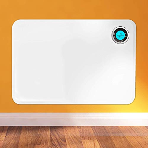 41wKjF5w2rL. SS500  - FUTURA Electric Panel Heater Intelligent 24 Hour 7 Day Timer Bathroom Safe 400W-2000W, Lot 20 Slimline Electric Radiator Flat Wall Mounted Low Energy Electric Heater for home thermostat