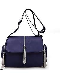 Bagtopia Women'S Casual Shoulder Bags Waterproof Multi Pockets Nylon Cross Body Handbags With Zipper Navy Blue