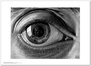 SMART ART - 'Eye ' by M.C. Escher - Fine Art Print 22x16 inches