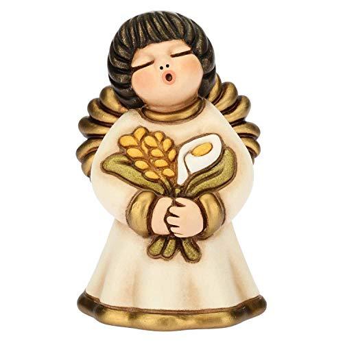 Thun angelo prima comunione, bomboniera, in ceramica, h 7,6 cm