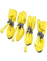 Fliyeong Stockton Set 4 Stivali di Pioggia per Cane e Gatto Casa Scarpe  Impermeabili Antiscivolo per 55be9ce43a9