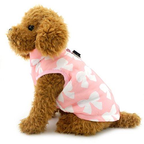 Zunea Gepolsterte Warme Kleine Hund Katze Weste Mantel Jacke Welpe Weste Harness Pet Winter Kleidung Doggie Jumper Chihuahua Overalls Bekleidung Rosa Bogen XS -