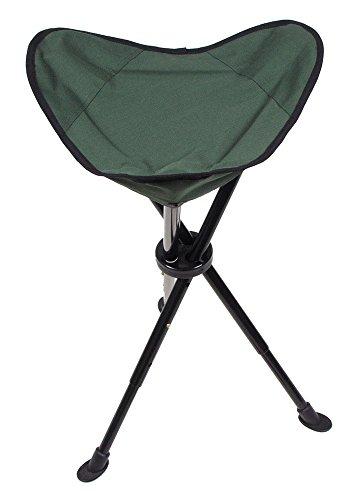 Teleskop Stativ faltbar Angeln Hocker Sitz Stuhl Mit Tragetasche Camping Oliv