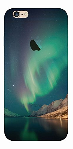 MPPK-Hamburg ® Apple iPhone ® 6 Plus / 6s Plus 5,5 Zoll Schutz Hülle - Case in wunderschönem Design – Stabiles / transparentes PC - Polarlichter Grün Aurora Borealis dark Green