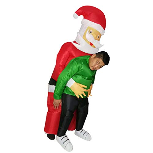 Baoblaze Traje Inflable de Navidad de Santa Claus Cosplay Disfraces Adornos Accesorios