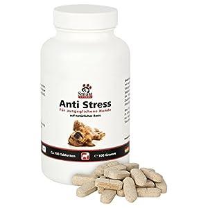 Smart Animal Anti Stress Beruhigungstabletten für nervöse und ängstliche Hunde - 100 Tabletten - Ideal bei Angst oder Stresssituationen (100 Gramm)