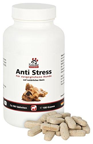 Anti Stress von Smart Animal - Beruhigungstabletten für nervöse und ängstliche Hunde - 100 Tabletten - Ideal bei Angst oder Stresssituationen (100 Gramm)