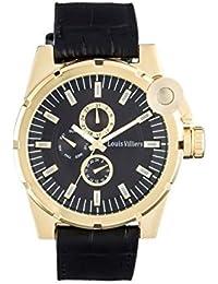 Louis villiers-Reloj de pulsera, color negro y dorado con dedos para hombre, color negro