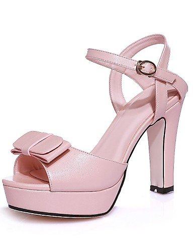 UWSZZ IL Sandali eleganti comfort Scarpe Donna-Sandali-Matrimonio / Ufficio e lavoro / Formale / Casual / Serata e festa-Tacchi / Spuntate / Plateau / Comoda / Innovativo Pink