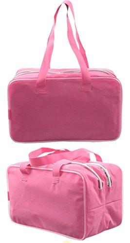 Chilsuessy Wasserdichte Sporttasche Shopper Schwimmtasche Training Bag , nasse und trockene Trennung ,Bademode Aufbewahrungsbeutel für Damen und Herren , Pink