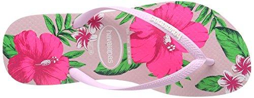 Havaianas Slim Floral, Sandales Plateforme femme Rose (crystal Rose 1141)