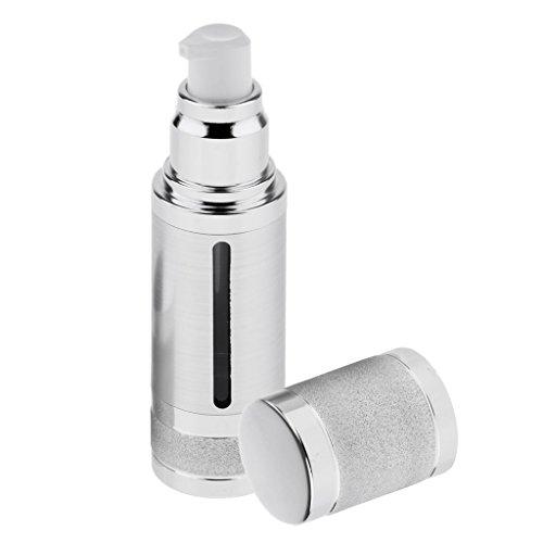 Baoblaze Leer Kunststoff Pumpe Flasche Sprühflasche Beauty Zerstäuber, Selbst zum Befüllen, 30ml - Silber -