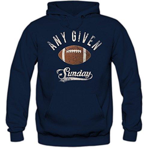 Shirt Happenz Any Given Sunday An jedem verdammten Sonntag Hoodie Herren Super Bowl American Football Hoodies NFL Kapuzenpullover, Farbe:Dunkelblau;Größe:XL