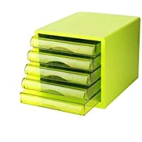 HongLianRiven Archivo de gabinete Alta Transparente Resina cajón de deslizamientos pequeña Pista White Label Anillo Caja de plástico (27X34X25.5CM) 12-30 (Color : B1)