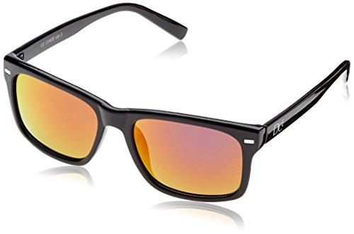 Dice Unisex Sonnenbrille, shiny black/lilac revo, one size, D06210-27