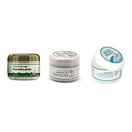 [Elizavecca] Milky Piggy Bubble Clay Mask 100g + Milky Piggy Sea Salt Cream 100g + Green Piggy Collagen Jella Pack 100g