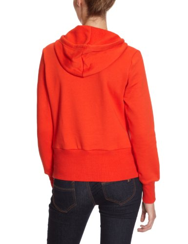 Adidas pull à capuche pour femme avec logo adidas trèfle Rouge - core energy s12/running white
