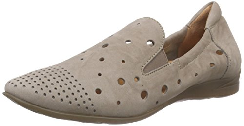 THINK! Wunda Slipper, Damen Slipper, Beige (TAUPE/KOMBI 27), 39.5 EU