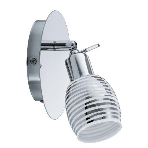 Eglo NABAO G9 33W Cromo iluminación de techo - Lámpara (Dormitorio, Salón, Cromo, IP20, Blanco, Vidrio, Acero, I)