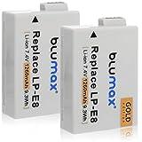 Blumax 2X Gold Edition LP-E8 Akku kompatibel mit Canon EOS 550D 600D 650D 700D 1260mAh 7,4V 9,3Wh