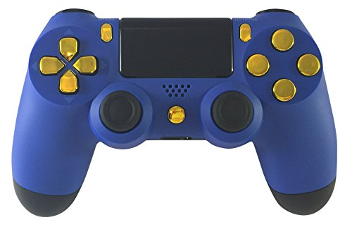 GM Master MOD Blau & Gold PS4 Modding Controller Mod Custom Rapid Fire, Drop Shot, Quickscope Cod Black Ops 3, Infinite Warfare, MW Das, Battlefield 1, Destiny - Custom-ps4-controller