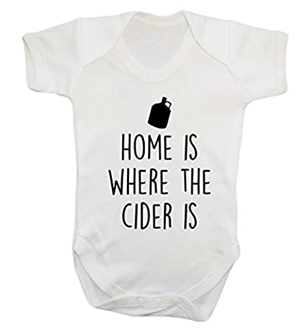 Home is where the cider is baby vest bodysuit babygrow