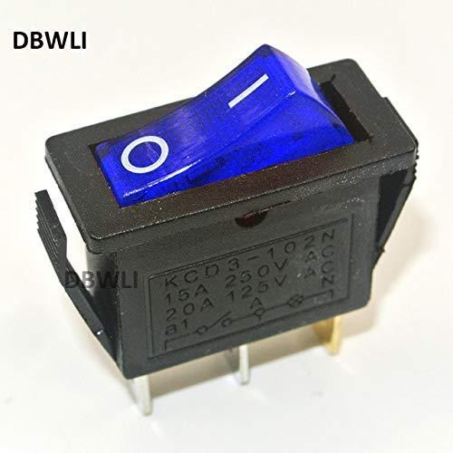 Rectangle Rocker Switch (TEN-G 5pcs On/Off led Illuminated Rectangle Rocker Switch 2 Position Car Dashboard Dash Boat SPST - (Color: Blue))