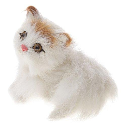 Lebensecht Plüschtier Plüsch Katze Dekorfigur Plüschspielzeug - Gelb Stirn