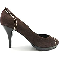VICINI by ZANOTTI 36 ,5 Pumps Damen Braun Wildleder ZX10