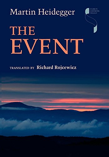 The Event (Studies in Continental Thought) por Martin Heidegger
