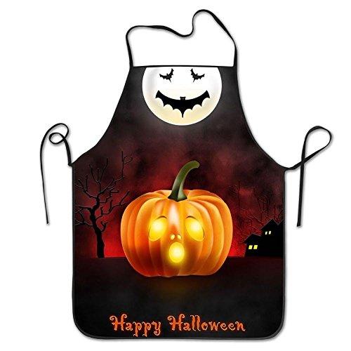 draujy Happy Halloween Schürze, Unisex Küche Lätzchen Schürze Mit Verstellbarem Hals für Kochen Backen gardening-28* 53,3cm
