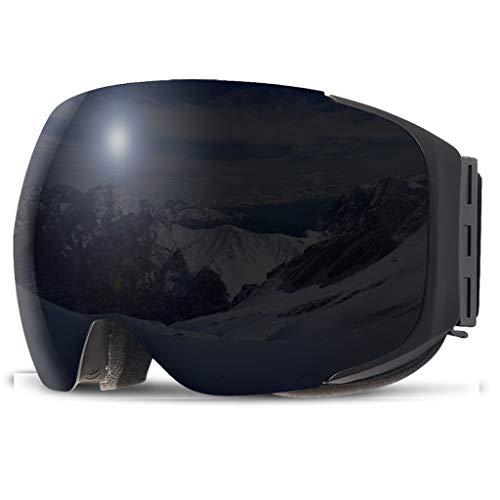 Magnet Skibrille Doppel Anti-Fog große kugelförmige Männer und Frauen Ski Brille Ausrüstung Cola Karte Myopie (Farbe : B)