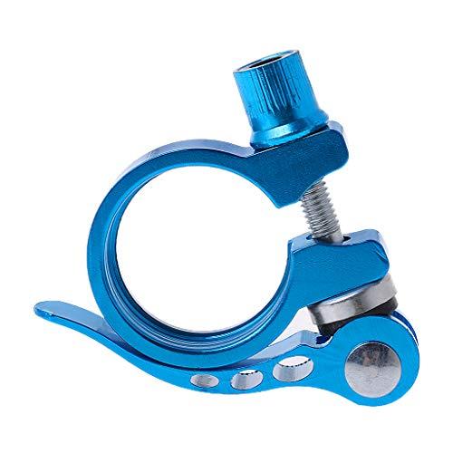 lpyfgtp Sattelstütze Klemme aus Aluminiumlegierung Schnellspanner MTB-Fahrradzubehör 31,8, blau - Sattelstütze Blau Klemme