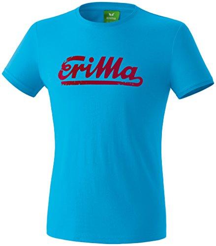 Erima Herren Retro T-Shirt Curacao/Ruby M