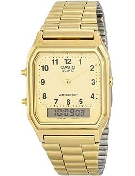 CASIO Herren-Armbanduhr Analog Quarz Edelstahl AQ-230GA-9B