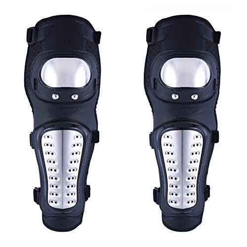 SunTime Knie Ellenbogen Knieprotektoren Lange Schienbeinschutz Erwachsene legierung Stahl Rüstungsschutz Schienbeinschoner Knieschoner Armschützer Schutzausrüstung für Motocross Motorrad Fahrrad Skate