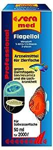 Sera 02206 med Professional Flagellol 50 ml - Arzneimittel für Zierfische gegen Darmflagellaten und andere einzellige Darmparasiten
