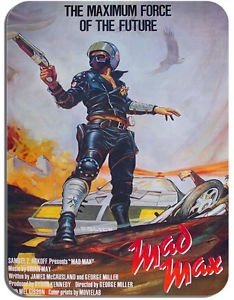 Funkyzilla Mad Max Vintage Movie Poster Mouse Mat Film Novelty Mouse pad