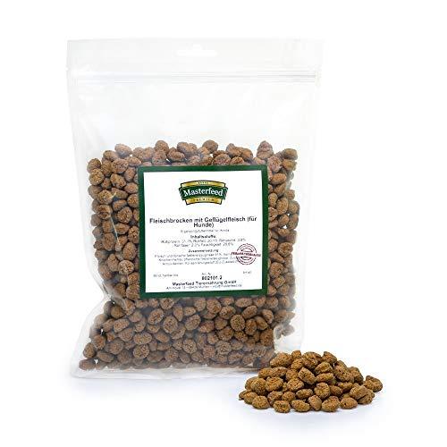 Masterfeed Leckerli Brocken Huhn - 90% Fleischanteil - Getreidefrei - 100% Natürlich - Hundeleckerli Größe 500 g