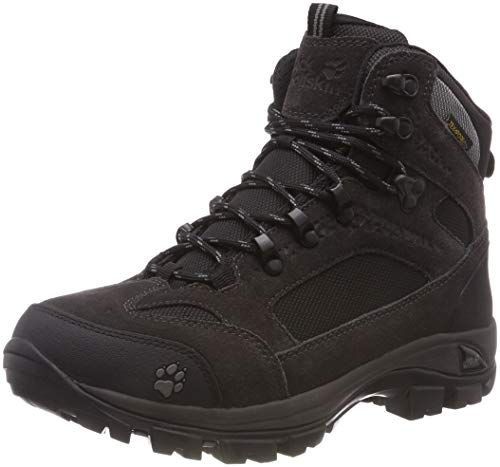 Jack Wolfskin Damen All Terrain 8 Texapore Mid W, Wanderschuhe Outdoor, Schwarz (Shadow Black 6101), 39.5 EU All Terrain Sport Boot
