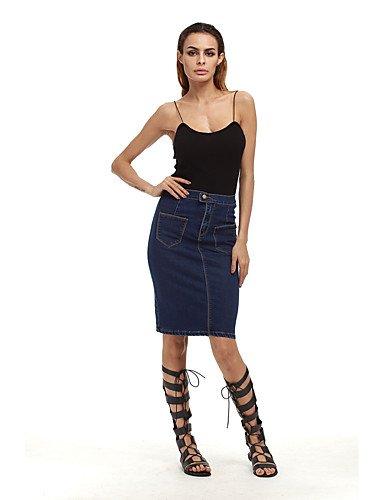 DD&Clothes gonne segno denim gonna donne di grandi dimensioni in Europa e in America ebay (Ragazze Lungo Pannello Esterno Del Denim)