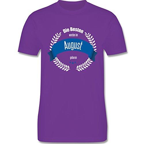 Geburtstag - Die Besten werden im August geboren - Herren Premium T-Shirt Lila