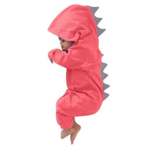 Selou Baby Kinder Dinosaurier Strampler, Junge Mädchen Walkoverall Reißverschluss Kleidung Warme süße Nachtwäsche Pyjamas Herbst Winter sets Hoodie Baby kleidung Baby Schlafanzug