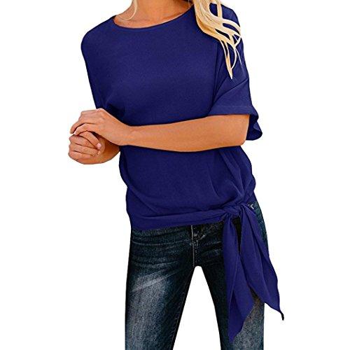 Cool Lässiges ärmelloses Gefaltetes Mehrlagen Chiffon Cami Tank Top(L,Dunkelblau) (Tie Dye Kleid Kostüm)